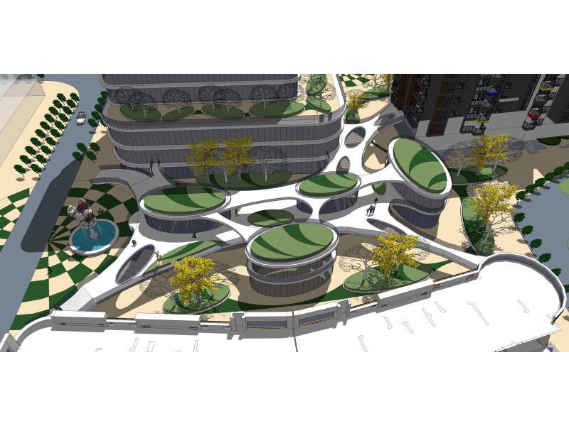 商业街小区,住宅的体块与立面形式图片 住宅建筑立面效果