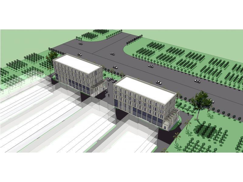 厂区宿舍楼,综合楼立面设计