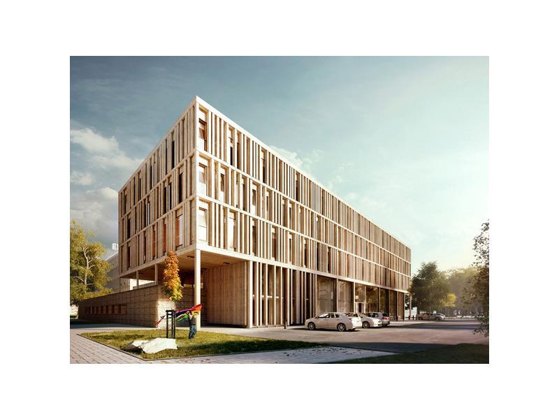 两栋楼分别为砖混结构和底框架构