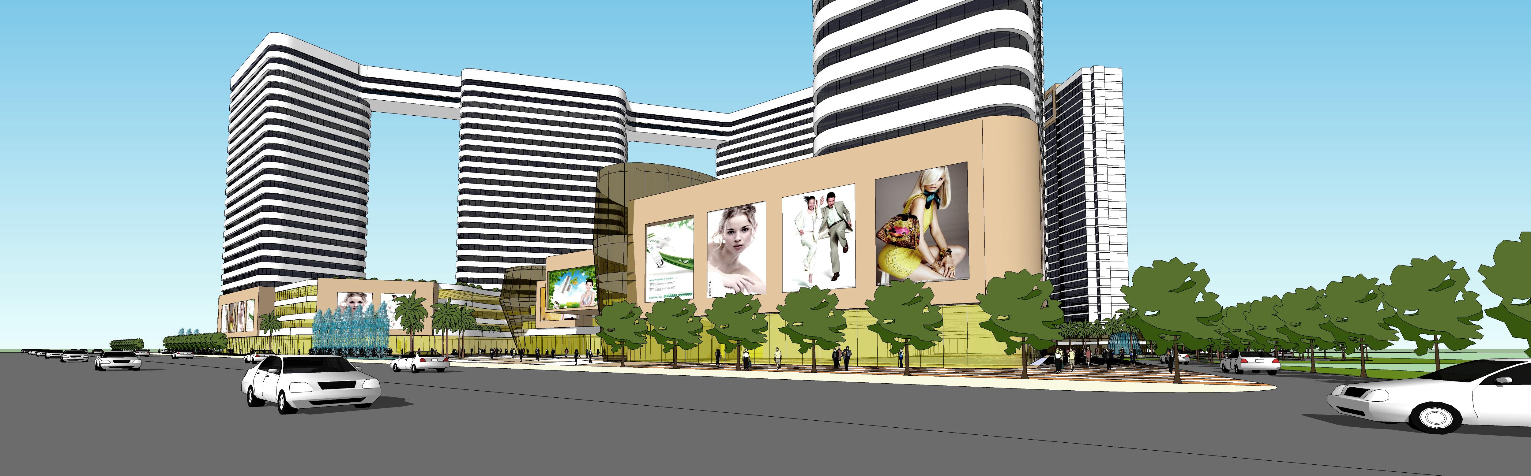 一 前期策划 1.本城市综合体方案中包含大型商业(shoppingmall)、酒店(五星级酒店和商务酒店)、甲级写字楼、SOHO公寓、住宅以及配套公建项目 2.shoppingmall:包含有百货商场、精品店街、各主力店(比如运动100、KTV、酒楼、电影院等)、超市,该部分建筑甲方可大量自持 3.