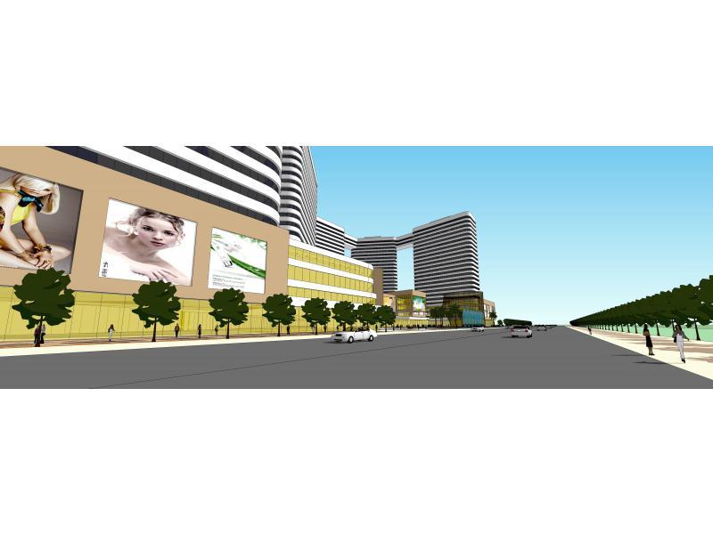 湖北某城市商业综合体规划与建筑设计
