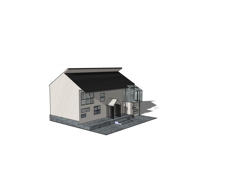 项目方案立意,构思——现代的徽式建筑图片
