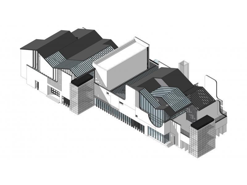 建筑集成竹结构模型