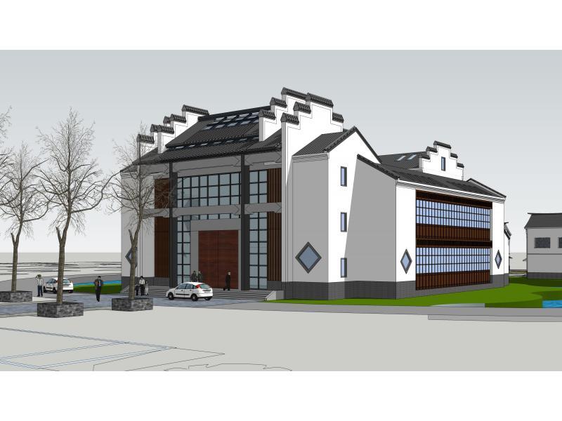 商品住宅房徽派风格建筑cad图纸 各层平面图
