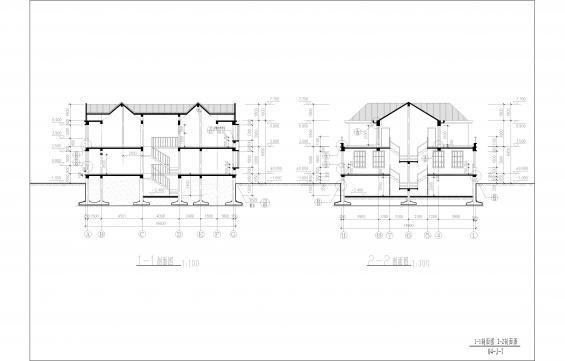 欧式坡屋顶平面图素材