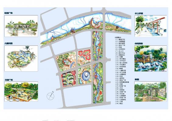 城市中心区及中心绿地规划设计图片