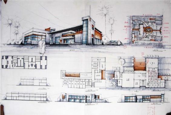 建筑学快题设计-设计群网图库