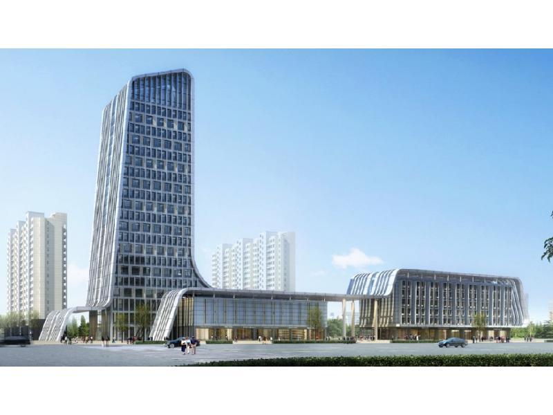 办公楼效果图 办公楼设计 办公楼外观设计