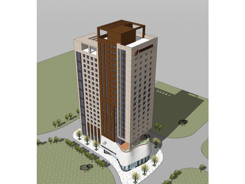 办公建筑造型草图