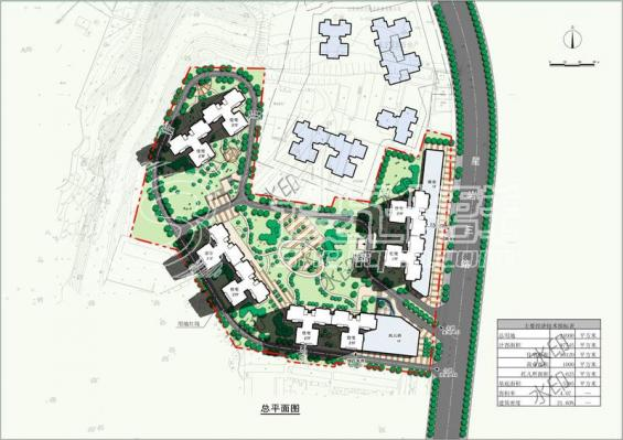 居住小区.广东云浮居住区方案2012-设计群网图库