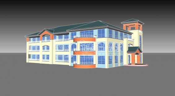 某简欧小区配套幼儿园建筑设计方案su模型[原创]