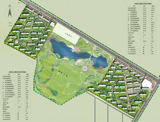 东北松原苏力德小镇住宅小区规划设计方案
