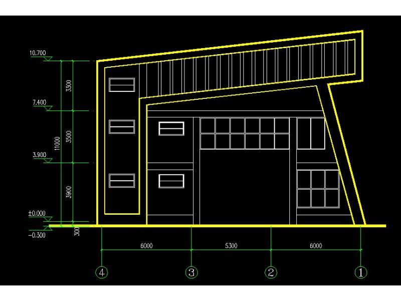 房屋平面设计图黑白展示