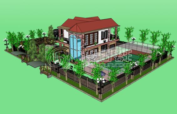 私人别墅,景观设计