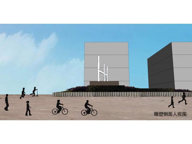 三人行------井冈山中学校园主题雕塑设计