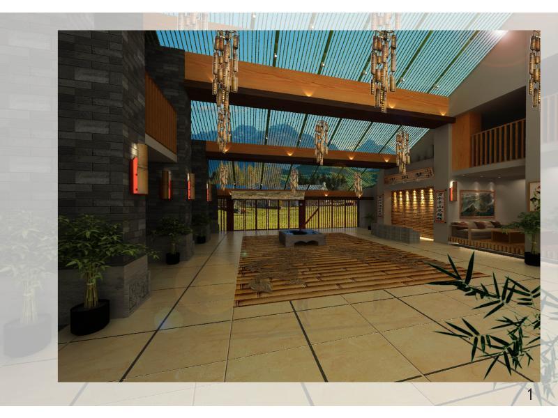 中國夢設計方案說明 項目名稱:云南香格里拉中國夢大酒店酒店大堂 建筑面積:353m2 建筑風格:傳統與現代結合 主要材料:竹、木材、云石、大理石 設計單位:廣科院裝修佬室內設計組 本設計組此次所接項目為4星級的中國夢大酒店酒店大堂。該酒店大堂面積為353平方米,位于云南香格里拉幾個著名的4A景區附近,常年游客來往不斷,甚是有人將該處作為度假的圣地。 在我們的前期調查發現,該地主要為亞熱帶季風氣候,雖常年多雨,且夏季氣候炎熱,但自然風光秀麗,民族文化氣氛濃厚,確實是一個旅游的首選之地。 應該酒