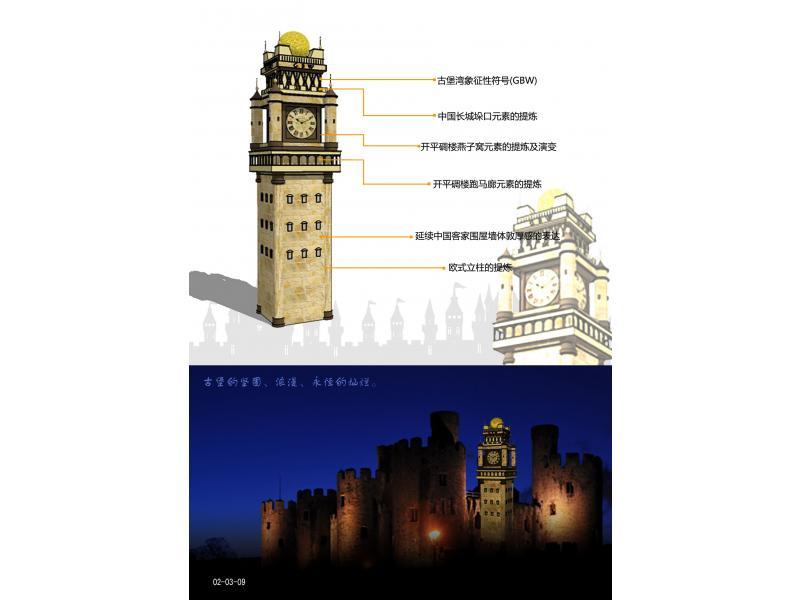 古堡湾集团标志性建筑符号设计
