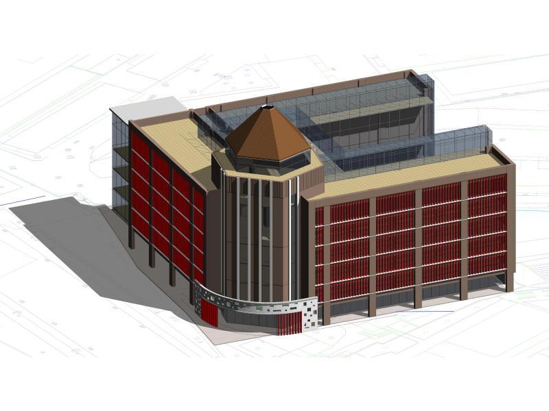 图书馆第二轮建筑设计方案——生态书架