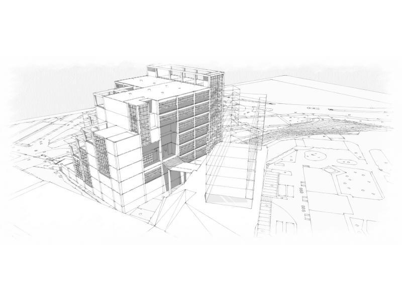 成都大学图书馆平面设计图展示