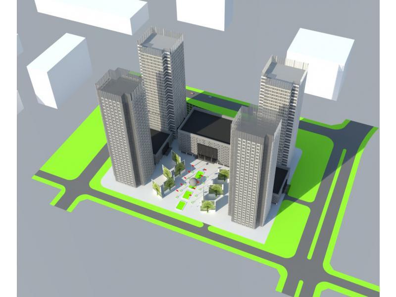 商务办公楼立面设计