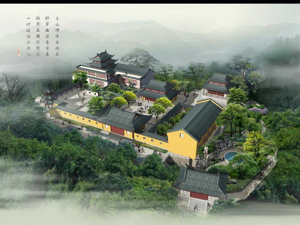 平顶寺庙设计图