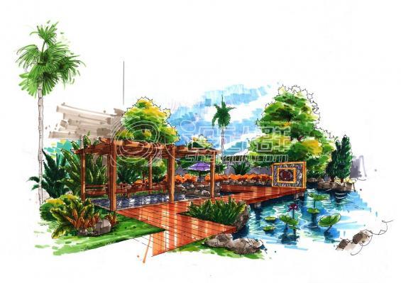 景观手绘设计-设计群网图库