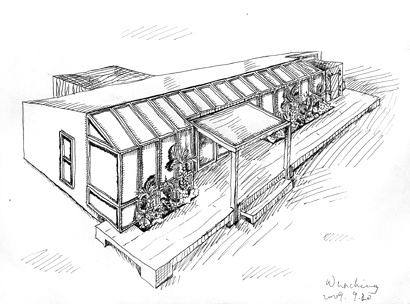 学生建筑画手绘图片