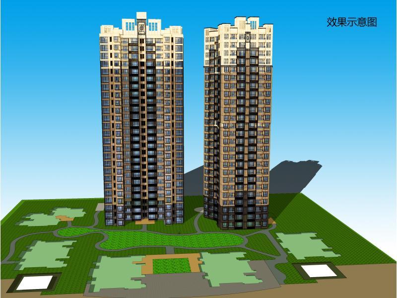 柬埔寨小区住宅立面设计  方案详情 发布者:映月影风