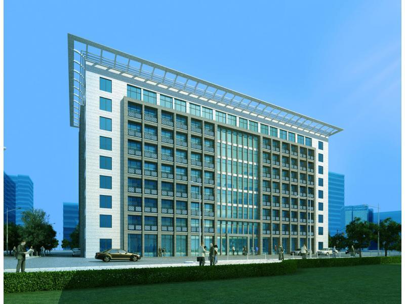 柬埔寨9层办公楼立面设计