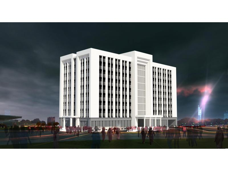 9层办公楼立面设计
