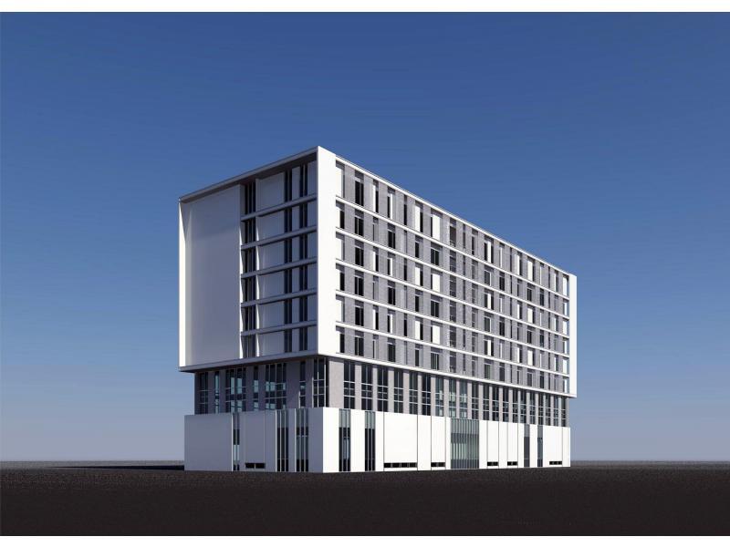 柬埔寨办公楼立面设计
