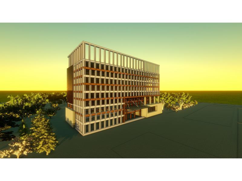 柬埔寨办公楼立面方案设计