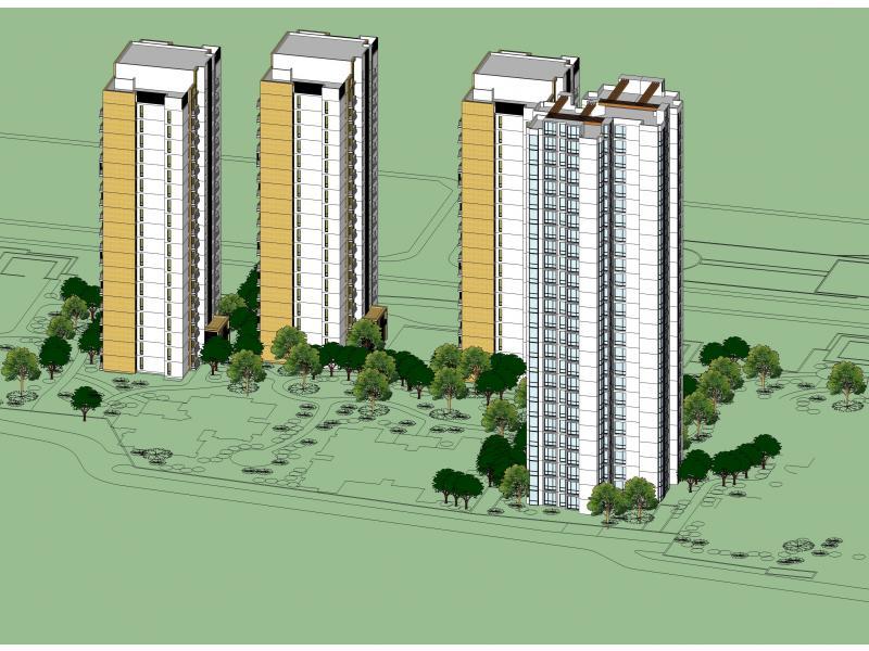 柬埔寨小区住宅立面设计
