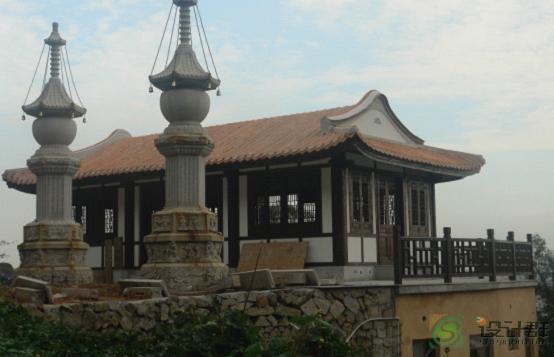 图片:采用现代木结构的寺庙建筑