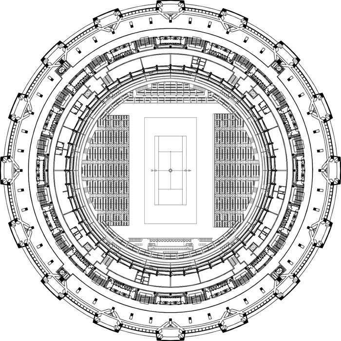 钻石网球场设计——拾壹建筑工作室