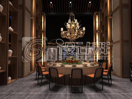 火锅餐厅设计-西安红鼎火锅