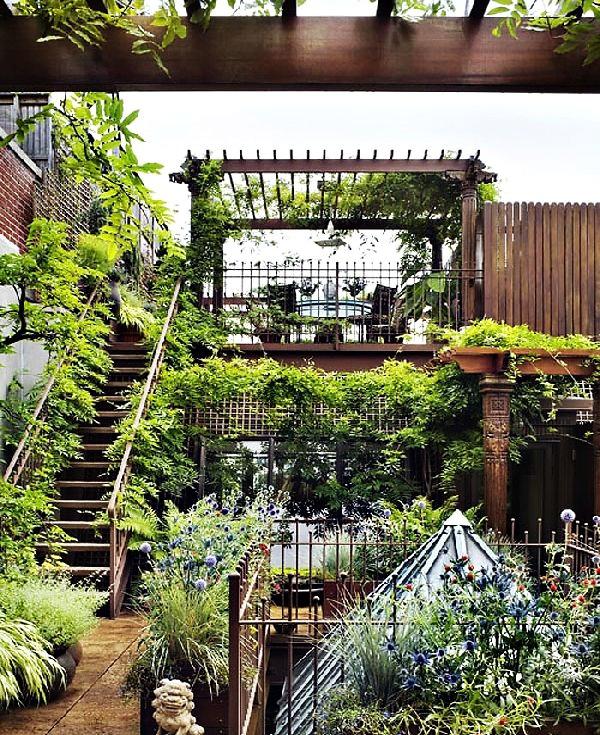 屋顶花园的设计施工要点