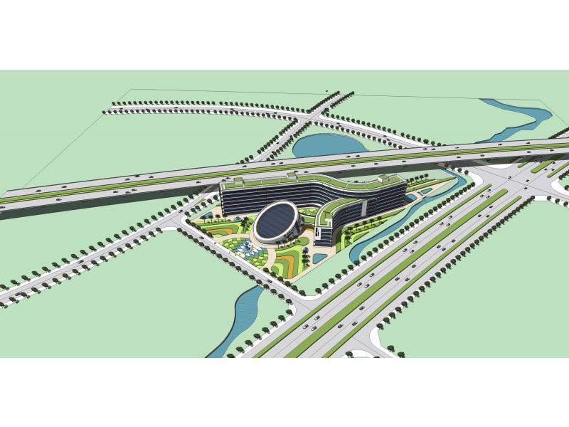 简单梯形居住区绿地设计平面图