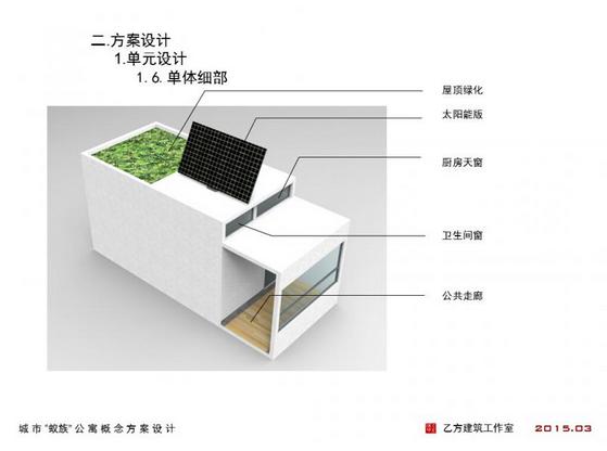 """2015绿色建筑设计竞赛——城市""""蚁族""""公寓概念方案"""