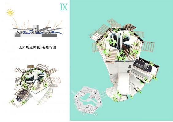2015绿色建筑设计竞赛微型住宅作品——都市太空站