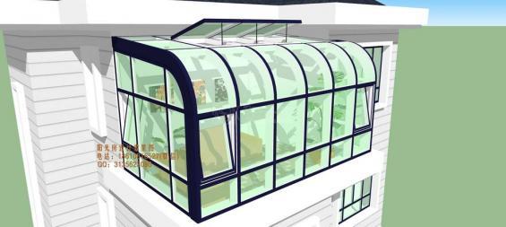 露台圆弧阳光房设计方案