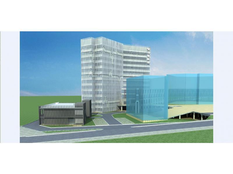 1、此方案是在考虑经济实用的情况下比较保守的一个方案,但又不失高雅大气,整个建筑风格采用现代简洁的风格,按要求采用灰白格调,这样既可以减少立面材料上的造价,也能与已有建筑融合。此项目的难点在于在满足医院这样一个特殊使用要求的前提下怎么和已有的住院楼和急诊楼结合好而又不失高压大气上档次。 2、利用山地的优势,形成一层可以接地面,三层也可以接地面的台地建筑景观。