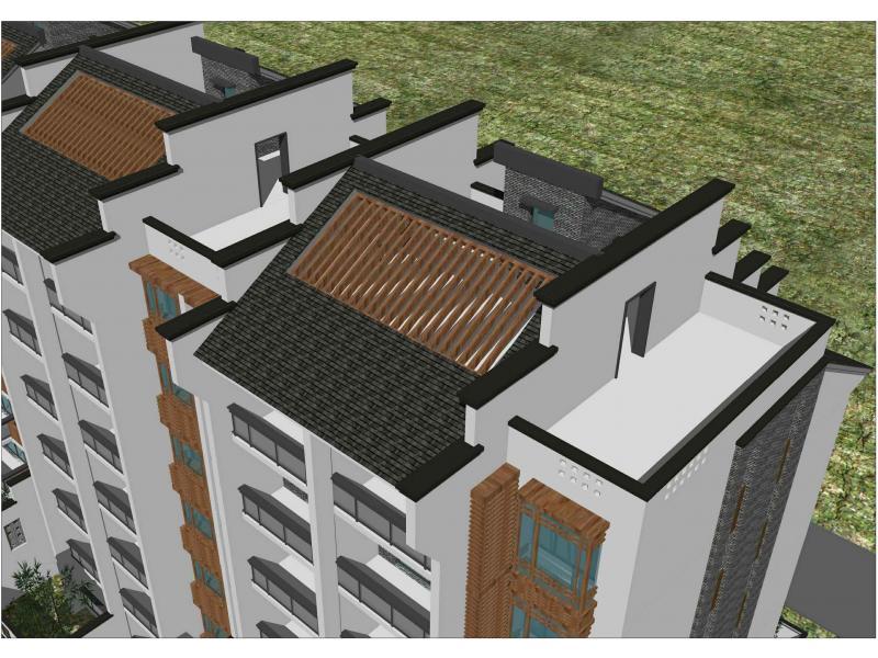 平和安静 徽派多层住宅立面设计