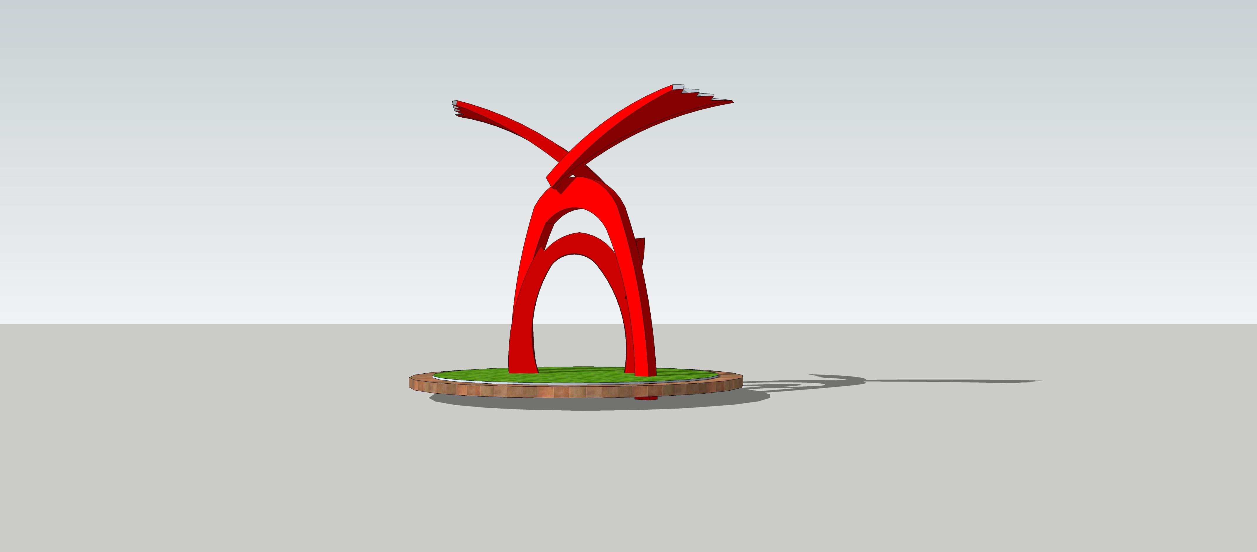 希望小学成长主题抽象雕塑设计