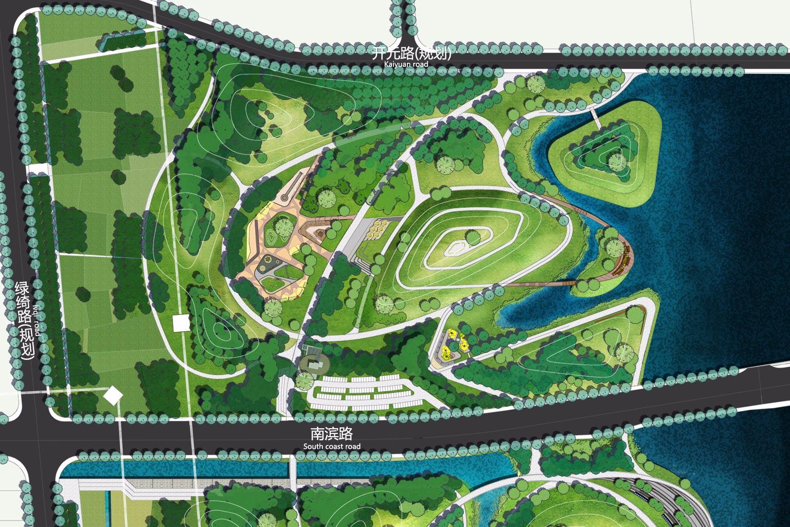 公园局部平面图_市级公园总平面图设计_市级公园总平面图设计分享展示
