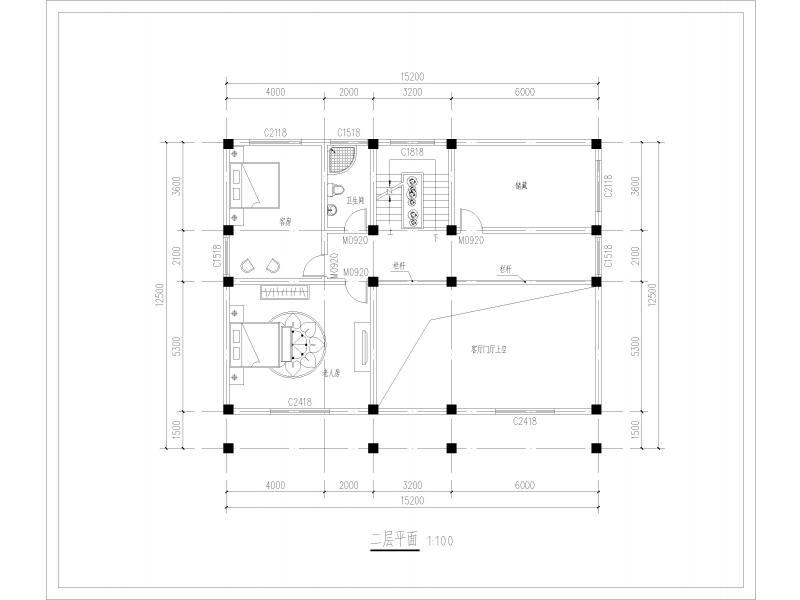 100平方自建房设计图纸展示