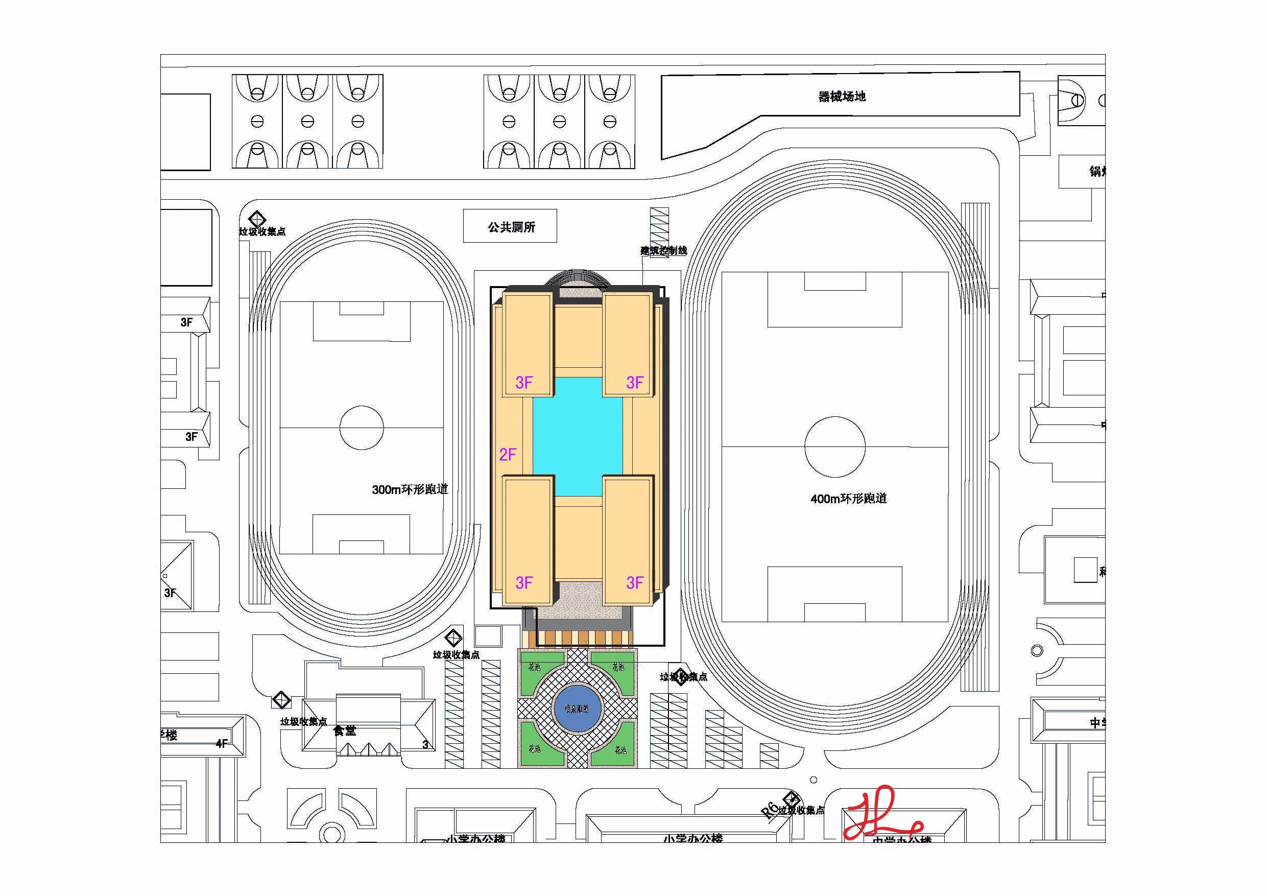 胜利与腾飞——中学体育馆设计图片