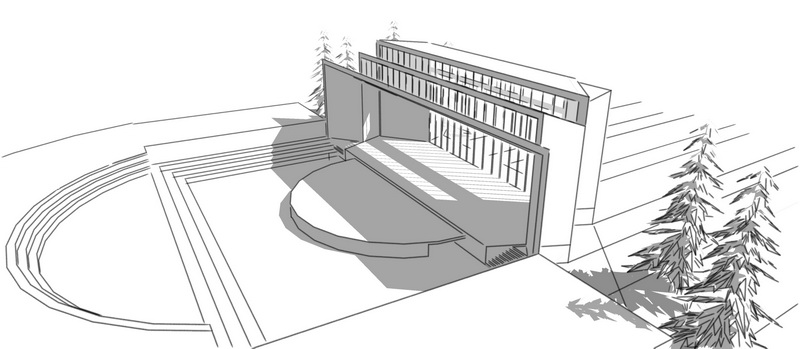 露天剧场舞台设计-投标鉴赏-设计群网