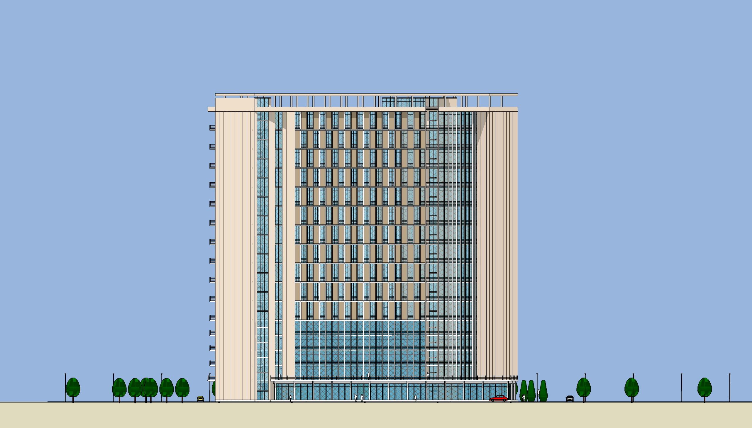 wxslove---高层办公楼立面设计