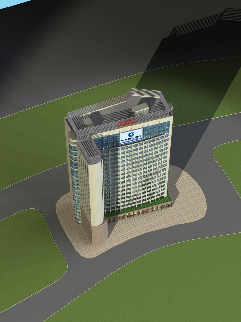 高层办公楼立面设计17195号建筑方案绿色建筑设计 方案自